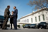Cass Sunstein Photo - United States President Barack Obama talks with Cass Sunstein Office of Information and Regulatory Affairs Administrator and Senior Advisor Valerie Jarrett on West Executive Avenue between the West Wing of the White House and the Eisenhower Executive Office Building April 7 2011 Photo by Pete SouzaWhite HouseCNP-PHOTOlinknet