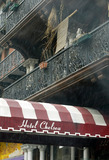 ARCHITECTURAL FRAGMENT Photo - Architectural fragment Chelsea Hotel facade on a rainy day New York February 24 2004