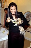 Jimmy Choo Photo -  Jimmy Choos Oscar 2002 Collection Peninsula Hotel Beverly Hills CA 03182002 Kelly Hu and Dog Lucy Photo by Amy GravesGlobe Photosinc2002 (D)