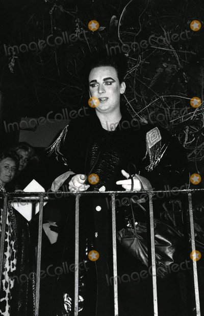 Boy George Photo - Boy George Attending Birthday party in his honor at Friends apartment on the Upper West Side in New York CityJune 14 1985Credit McBrideface to face