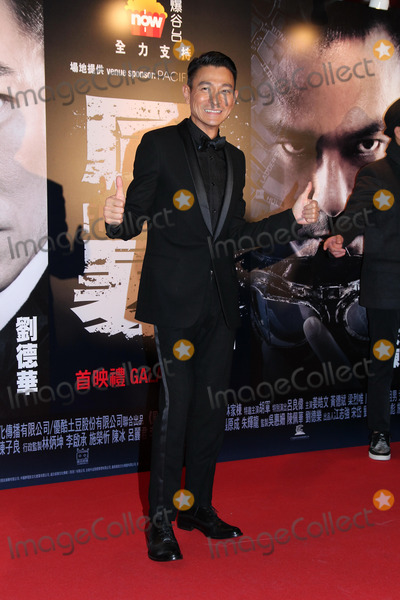 Andy Lau Photo - Actor Andy Lau attends premiere of film Firestorm at AMC Pacific Place in Hong KongChina on Sunday December 152013Credit Topphotoface to face- No rights for China and Taiwan -