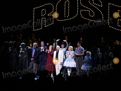 Arthur Laurents Photo - Stephen Sondheim Boyd Gaines Patti Lupone Laura Benanti Arthur Laurents Leigh Ann Larkin Tony Yazbeck Sami Gayle and cast at the Opening Night Curtain Call for the Summer Stars - Encores Gypsy Opening Night at City Center at NY City Center in New York CityJuly 12 2007Credit McBrideface to face