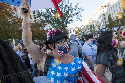 Vice President Joe Biden Photo - People celebrate in the streets near the White House in the hours after Democratic presidential candidate and former Vice President Joe Biden was elected president in Washington DC Saturday November 7 2020 Credit Rod Lamkey  CNPAdMedia