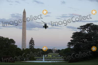 White House Photo - Marine One carrying United States President Donald J Trump approaches the South Lawn of the White House in Washington DC US as he arrives from the Kennedy Space Center in Florida on Saturday May 30 2020  Trump vowed his administration would end what he called mob violence in US cities following the death of an unarmed black man at the hands of Minnesota police blaming leftist groups for clashes with police and property damage around the nation Credit Stefani Reynolds  Pool via CNPAdMedia