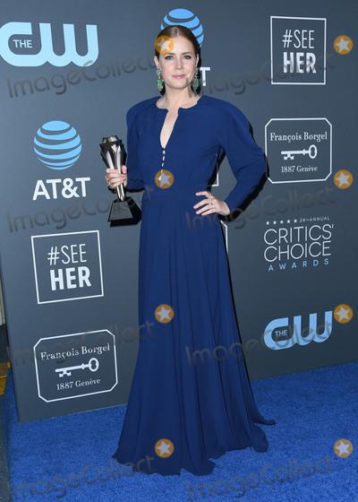 Amy Adams Photo - 13 January 2019 - Santa Monica California - Amy Adams The 24th Annual Critics Choice Awards - Press Room held at Barker Hangar Photo Credit Birdie ThompsonAdMedia