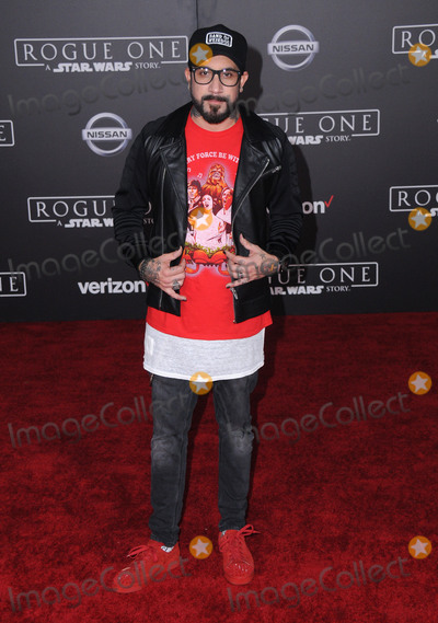 AJ MCLEAN Photo - 10 December 2016 - Hollywood California - AJ McLean Rogue One A Star Wars Story World premiere held at Pantages Theater Photo Credit Birdie ThompsonAdMedia