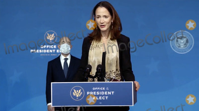 Foreigner Photo - Avril Haines United States Director of National Intelligence-designate makes remarks at the event where US President-elect Joe Biden announced his nominees to Key Foreign Policy and National Security Posts in Wilmington Delaware on Tuesday November 24 2020Credit Biden Transition via CNPAdMedia