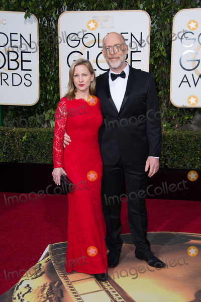 J K Simmons Photo - Michelle Schumacher and JK Simmons presenter arrive at the 73rd Annual Golden Globe Awards at the Beverly Hilton in Beverly Hills CA on Sunday January 10 2016 Photo Credit HFPAAdMedia