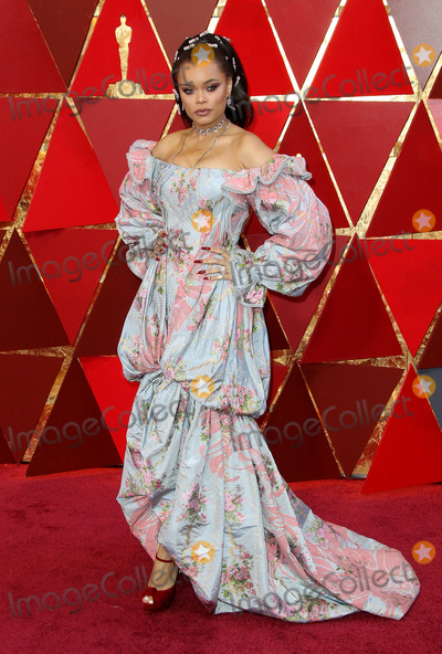 Andra Day Photo - 04 March 2018 - Hollywood California - Andra Day 90th Annual Academy Awards presented by the Academy of Motion Picture Arts and Sciences held at the Dolby Theatre Photo Credit AdMedia
