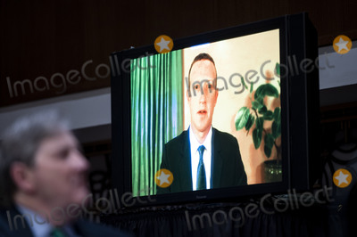 Kennedy Photo - Mark Zuckerberg Chief Executive Officer of Facebook testifies remotely as United States Senator John Neely Kennedy (Republican of Louisiana) looks on during the Senate Judiciary Committee hearing on Breaking the News Censorship Suppression and the 2020 Election on Tuesday Nov 17 2020 Credit Bill Clark  Pool via CNPAdMedia