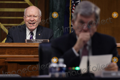 Pete Buttigieg Photo - WASHINGTON DC - APRIL 20 United States Senator Patrick Leahy (Democrat of Vermont) Chairman US Senate Committee on Appropriations questions members of the Biden administration during a hearing in the Dirksen Senate Office Building on Capitol Hill on April 20 2021 in Washington DC Biden cabinet members including Transportation Secretary Pete Buttigieg testified about the American Jobs Plan the administrations 23 trillion infrastructure plan that has yet to win over a single Republican in CongressCredit Chip Somodevilla   Pool via CNP