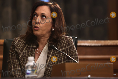 Alex Wong Photo - United States Senator Kamala Harris (Democrat of California) speaks during a hearing before US Senate Homeland Security and Governmental Affairs Committee at Dirksen Senate Office Building August 6 2020 on Capitol Hill in Washington DC The committee held a hearing on Oversight of DHS Personnel Deployments to Recent Protests Credit Alex Wong  Pool via CNP