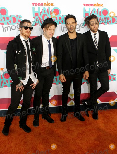 Andy Hurley Photo - 17 November 2013 - Hollywood California - Andy Hurley Patrick Stump Peter Wentz and Joe Trohman Fall Ou 2013 TeenNick HALO Awards held at the Hollywood Palladium Photo Credit Kevan BrooksAdMedia