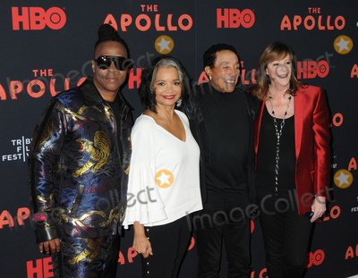 Jonell Photo - 24 April 2019 - New York New York - Roger Ross Williams Jonelle Procope Smokey Robinson and Jane Rosenthal at the Opening Night of the 2019 Tribeca Film Festival World Premiere of HBO Documentary Film THE APOLLO at The Apollo in Harlem Photo Credit LJ FotosAdMedia