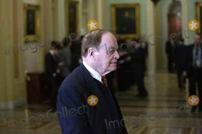 Alabama Photo - United States Senator Richard Shelby (Republican of Alabama) exits the Senate Chamber during a brief recess in the impeachment trial of United States President Donald J Trump on Capitol Hill in Washington DC US on Friday January 31 2020 Credit Stefani Reynolds  CNPAdMedia