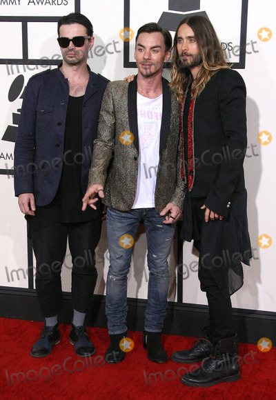 Shannon Leto Photo - 26 January 2014 - Los Angeles California - Tomo Milicevic Shannon Leto Jared Leto 30 Seconds To Mars 56th GRAMMY Awards held at the Staples Center Photo Credit AdMedia