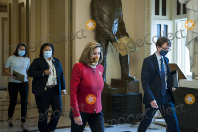 Representative Nancy Pelosi Photo - Speaker of the United States House of Representatives Nancy Pelosi (Democrat of California) walks to her office from the US House chamber at the US Capitol in Washington DC Thursday September 17 2020 Credit Rod Lamkey  CNPAdMedia