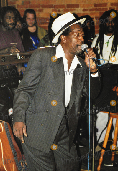 Sounds Photo - 11 February 2021 - Remembering the late reggae great Gregory Isaacs  Known for his sound of lovers rock mixed with roots reggae Mr Isaacs died of cancer in 2010 The annual Red Rose for Gregory charity event usually held on Valentines Day will be postponed due to COVID-19  File Photo Gregory Isaacs performs on stage in 1995 at La Luna Hamilton Ontario Canada Photo Credit Brent PerniacAdMedia