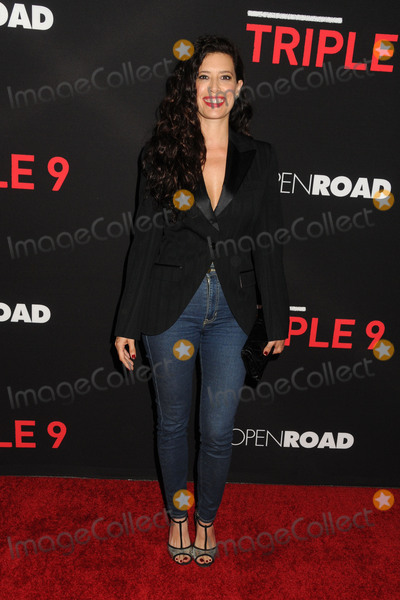 Angie Cepeda Photo - 16 February 2016 - Los Angeles California - Angie Cepeda Triple 9 Los Angeles Premiere held at Regal Cinemas LA Live Photo Credit Byron PurvisAdMedia