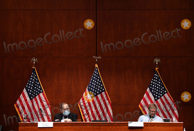 American Flag Photo - United States Representative Jerrold Nadler (Democrat of New York) Chairman US House Judiciary Committee left and United States Representative Jim Jordan (Republican of Ohio) Ranking Member US House Committee on the Judiciary right sit in front of American Flags at a US House Judiciary Committee markup of HR 7120 the Justice in Policing Act of 2020 on Capitol Hill in Washington DC on Wednesday June 17 2020 The bill reforms policing in the United States and it includes provisions to stop police misconduct and the use of excessive force    Credit Kevin Dietsch  Pool via CNPAdMedia