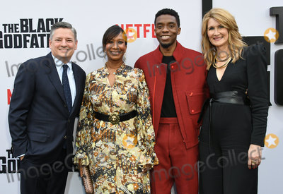 Nicole Avant Photo - 03 June 2019 - Los Angeles California - Nicole Avant Ted Sarandos Chadwick Boseman Laura Dern Netflixs The Black Godfather Los Angeles Premiere held at Paramount Theater Photo Credit Birdie ThompsonAdMedia