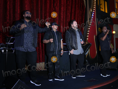 All 4 One Photo - 22 July 2018 - Las Vegas NV - All 4 One  Salt N Pepa with DJ Spinderella along with special guests hold free performance to announce upcoming I Love the 90s- The Vegas Show at Le Cabaret at Paris Las Vegas Photo Credit MJTAdMedia
