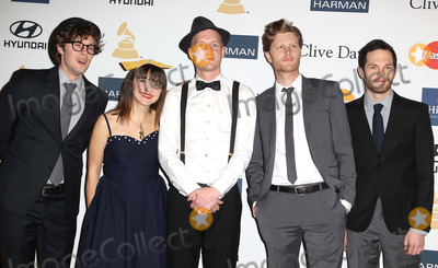 The Lumineers Photo - 09 February 2013 - Beverly Hills California - Stelth Ulvang Neyla Pekarek Jeremiah Fraites Wesley Schultz and Ben Wahamaki The Lumineers Clive Davis And The Recording Academys 2013 GRAMMY Salute To Industry Icons Gala held at The Beverly Hilton Hotel Photo Credit Kevan BrooksAdMedia