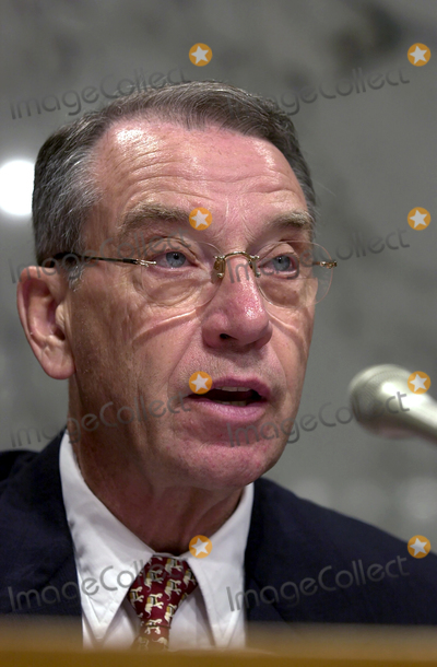 Chuck Grassley Photo - United States Senator Chuck Grassley (Republican of Iowa) listens to testimony during the confirmation hearing for Robert Mueller to be Director of the Federal Bureau of Investigation (FBI) on Capitol Hill in Washington DC on July 30 2001Credit Ron Sachs  CNPAdMedia