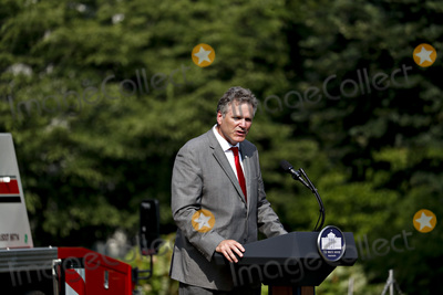 Alaska  Photo - Governor Michael Dunleavy (Republican of Alaska) speaks during a Rolling Back Regulations to Help All Americans event on the South Lawn of the White House in Washington DC US on Thursday July 16 2020 Russian state intelligence is hacking international research centers that are racing to develop a Covid-19 vaccine the UK US and Canadian governments said today Credit Al Drago  Pool via CNPAdMedia