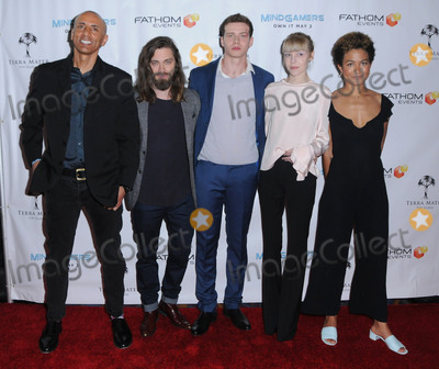 Andrew Goth Photo - 26 March 2017 - Los Angeles California - Andrew Goth Tom Payne Oliver Clark Antonia Campbell-Hughes Anouk Shad  Fathom Events And Terra Mater Film Studios Premiere Event For MindGamers One Thousand Minds Connected Live held at Regal Cinemas at LA Live in Los Angeles Photo Credit Birdie ThompsonAdMedia