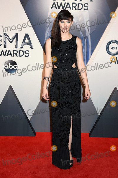 Aubrey Peeples Photo - 4 November 2015 - Nashville Tennessee - Aubrey Peeples 49th CMA Awards Country Musics Biggest Night held at Bridgestone Arena Photo Credit Laura FarrAdMedia