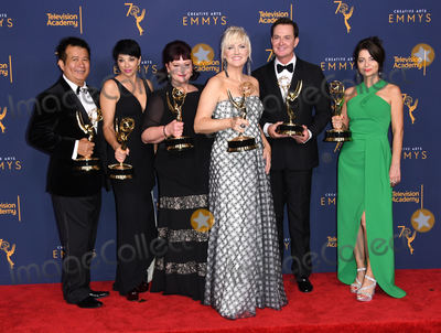Gianni Versace Photo - 08 September 2018 - Los Angeles California - The Assasination of Gianni Versace An American Crime Story Make-Up team  2018 Creative Arts Emmys Awards - Press Room held at Microsoft Theater Photo Credit Birdie ThompsonAdMedia