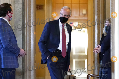 Jerry Moran Photo - Sen Jerry Moran R-Kan arrives for the second impeachment trial of former President Donald Trump in the Senate at the Capitol in Washington Tuesday Feb 9 2021 Credit Andrew Harnik   Pool via CNPAdMedia