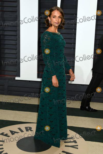 Alicia Vikander Photo - 26 February 2017 - Beverly Hills California - Alicia Vikander 2017 Vanity Fair Oscar Party held at the Wallis Annenberg Center Photo Credit Byron PurvisAdMedia