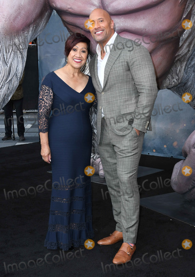 Ata Johnson Photo - 04 April 2018 - Los Angeles California - Ata Johnson Dwayne Johnson Warner Bros Pictures Rampage Los Angeles Premiere held at Microsoft Theater Photo Credit Birdie ThompsonAdMedia