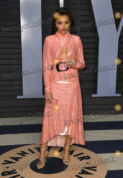 Andra Day Photo - 04 March 2018 - Los Angeles California - Andra Day 2018 Vanity Fair Oscar Party hosted following the 90th Academy Awards held at the Wallis Annenberg Center for the Performing Arts Photo Credit Birdie ThompsonAdMedia