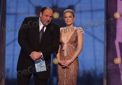 The Sopranos Photo - 19 June 2013 - The Sopranos star James Gandolfini has died at the age of 51 According to multiple sources the three-time Emmy winner suffered a heart attack while on vacation in Italy File Photo 15 November 2005 - New York New York - LeAnn Rimes and James Gandolfini 39th Annual CMA Awards held at Madison Square Garden Photo Credit Laura FarrAdMedia