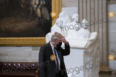 Angus King Photo - United States Senator Angus King Jr (Independent of Maine) walks through the Capitol Rotunda on the third day of the Senate impeachment trial of former President Donald Trump at the US Capitol in Washington DC Thursday February 11 2021 Credit Rod Lamkey  CNPAdMedia