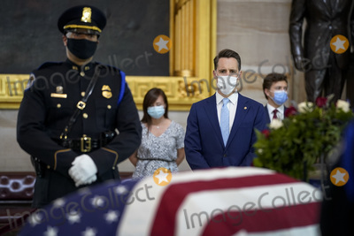 Josh Hawley Photo - WASHINGTON DC - APRIL 13 United States Senator Josh Hawley (Republican of Missouri) pays his respects to the late US Capitol Police officer William Billy Evans as he lies in honor in the Rotunda at the US Capitol on April 13 2021 in Washington DC Officer Evans was killed in the line of duty during the attack outside the US Capitol on April 2 He is thesixthCapitol Police officer to die in the line of duty in the nearly 200 years since the force was createdCredit Drew Angerer  Pool via CNPAdMedia