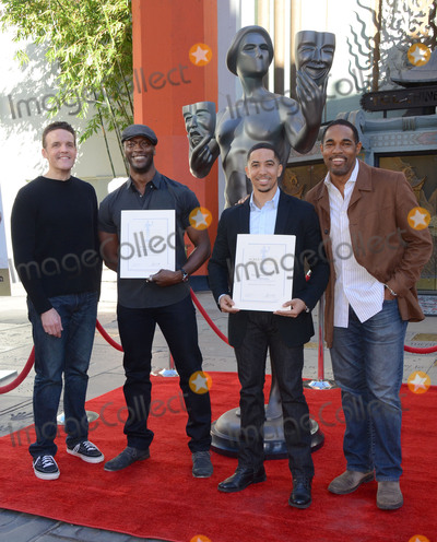 Aldis Hodge Photo - 26 January  - Hollywood Ca - Woody Schultz Aldis Hodge Neil Brown Jr Jason George SAG Awards Actor visits Hollywoods TCL Chinese Theater with SAG Awards nominees Aldis Hodge and Neil Brown Jr held at TCL Chinese Theater  Photo Credit Birdie ThompsonAdMedia