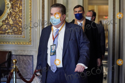 President Trump Photo - William J Brennan an attorney for former President Donald Trump is seen in the Senate Reception Room before the fifth day of the impeachment trial of former President Trump on Saturday February 13 2021Credit Greg Nash - Pool via CNPAdMedia