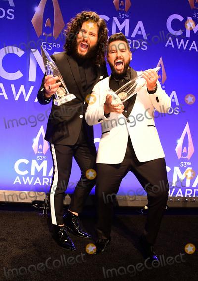 Shay Photo - 13 November 2019 - Nashville Tennessee - Dan Smyers Shay Mooney Dan  Shay 53rd Annual CMA Awards Country Musics Biggest Night held at Bridgestone Arena Photo Credit AdMedia