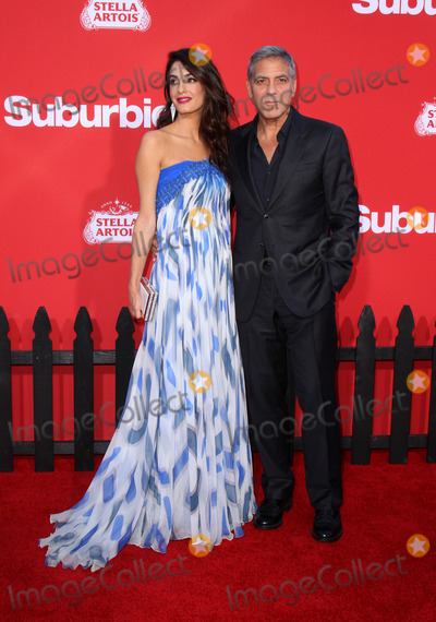 Amal Clooney Photo - 22 October 2017 - Los Angeles California - Amal Clooney and George Clooney Suburbicon Premiere held at the Regency Village Theatre in Los Angeles Photo Credit AdMedia