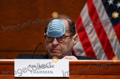 Train Photo - United States Representative Jerrold Nadler (Democrat of New York) Chairman US House Judiciary Committee adjusts his mask to drink a beverage during a markup on HR 7120 the Justice in Policing Act of 2020 in Washington DC US on Wednesday June 17 2020 The House bill would make it easier to prosecute and sue officers and would ban federal officers from using choke holds bar racial profiling end no-knock search warrants in drug cases create a national registry for police violations and require local police departments that get federal funds to conduct bias training Credit Erin Scott  Pool via CNPAdMedia