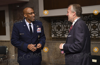 alaska Photo - United States Senator Dan Sullivan (Republican of Alaska) talks to General Charles Q Brown after his testimony at a US Senate Armed Services hearing on Capitol Hill in Washington DC on Thursday May 7 2020  The hearing was held to examine the nominations of Braithwaite to be Secretary of the Navy Anderson to be a Deputy Under Secretary and Brown Jr to be Chief of Staff US Air Force  Credit Kevin Dietsch  Pool via CNPAdMedia