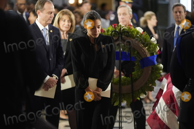Alexandria Ocasio-Cortez Photo - United States Representative Alexandria Ocasio-Cortez (Democrat of New York) and US Representative Adam Schiff (Democrat of California) Chairman US House Permanent Select Committee on Intelligence visit the flag-draped casket of US Representative Elijah Cummings (Democrat of Maryland) after a memorial service in Statuary Hall of the US Capitol on Capitol Hill in Washington DC October 24 2019  Credit Joshua Roberts  Pool via CNPAdMedia