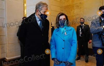 Nancy Pelosi Photo - Speaker of the House Nancy Pelosi (R) and her husband Paul (L)  before President-elect Joe Biden arrives at the East Front of the US Capitol for his inauguration ceremony to be the 46th President of the United States in Washington DC USA 20 January 2021AdMedia