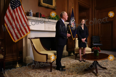 Alex Wong Photo - United States Senator Lamar Alexander (Republican of Tennessee) meets with US Supreme Court nominee Judge Amy Coney Barrett at the US Capitol October 21 2020 in Washington DC The Senate is scheduled to vote on confirming Barrett to the Supreme Court next Monday  Credit Alex Wong  Pool via CNPAdMedia