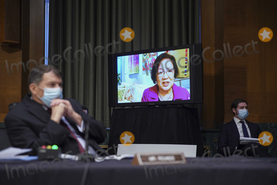 Barack Obama Photo - United States Senator Mazie Hirono (Democrat of Hawaii) speaks virtually during a Senate Veterans Affairs Committee confirmation hearing for Denis McDonough US secretary of Veterans Affairs (VA) nominee for US President Joe Biden in Washington DC US on Wednesday Jan 27 2021 As Barack Obamas chief of staff McDonough oversaw the VAs overhaul in response to its 2014 wait-time scandal and previously served as a deputy national security adviser Credit Sarah Silbiger  Pool via CNPAdMedia
