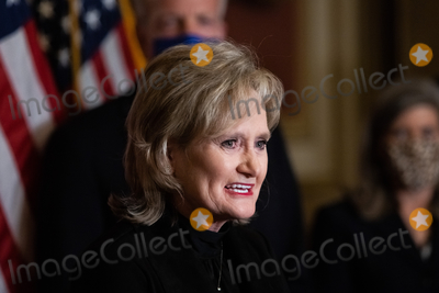 Supreme Court Photo - Senator Cindy Hyde-Smith R-MS speaks during a press conference after President Trumps Supreme Court nominee Judge Amy Coney Barrett was confirmed by the Senate as the 115th justice to the Supreme Court on Capitol Hill Monday October 26th 2020AdMedia